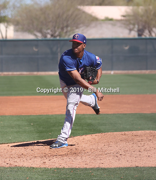 Kelvin Gonzalez - Texas Rangers 2019 spring training (Bill Mitchell)