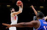 Spain's Nikola Mirotic during European championship semi-final basketball match between France and Spain on September 17, 2015 in Lille, France  (credit image & photo: Pedja Milosavljevic / STARSPORT)