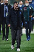 Gennaro Gattuso coach of SSC Napoli during the Serie A football match between Atalanta BC and SSC Napoli at stadio azzurri d'Italia in Bergamo (Italy), February 21th, 2021. Photo Daniele Buffa / Image Sport / Insidefoto
