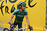 Yukiya Arashiro (JPN) Team Europcar at sign on before the start of Stage 2 of the 99th edition of the Tour de France 2012, running 207.5km from Vise to Tournai, Belgium. 2nd July 2012.<br /> (Photo by Eoin Clarke/NEWSFILE)