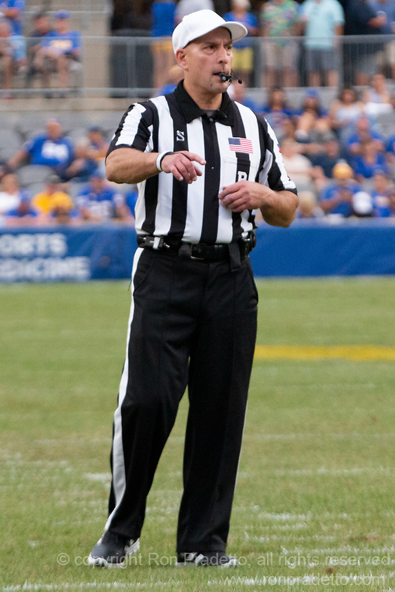 ACC football referee Jerry Magallanes. The Pitt Panthers defeated the UMass Minutemen 51-7 on September 4, 2021 at Heinz Field, Pittsburgh, PA.