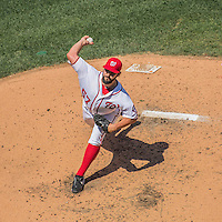 7 August 2016: Washington Nationals starting pitcher Tanner Roark on the mound against the San Francisco Giants at Nationals Park in Washington, DC. The Nationals shut out the Giants 1-0 to take the rubber match of their 3-game series. Mandatory Credit: Ed Wolfstein Photo *** RAW (NEF) Image File Available ***