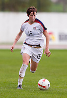 Megan Rapinoe. The USWNT defeated Denmark, 2-0, in Lagos, Portugal during the Algarve Cup.