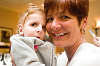 Alex Hermanson at the Share and Care Network's annual retreat held at the Doubletree Guest Suites Hotel in Boston on May 20, 2006. <br /> <br /> The Share and Care Network was created in 1981 by Pat Cahill when her son Scott was diagnosed with Cockayne Syndrome.  A rare form of dwarfism, Cockayne Syndrome is a genetically determined condition whose symptoms include microcephaly, mental retardation, progressive blindness, progressive hearing loss, premature aging, and a shortened lifespan averaging 18 years.  Those afflicted have distinctive facial features, including sunken eyes, pinched faces, and protruding jaws as well as distinctive gregarious, affectionate personalities.<br /> <br /> Because of the rarity of the condition (1/1,000 live births) and its late onset (characteristics usually begin to appear only after one year), many families and physicians are often baffled by children whose health begins to deteriorate after normal development.  It was partly with this in mind that the Share and Care Network was formed, to promote awareness of this disease as well as to provide a support network for those families affected.  In 1998 it began organizing an annual retreat, which has grown from three families in its inaugural year to more than 30 today.  Although the retreat takes place in the United States, families from as far as Japan arrive for this one weekend out of the year to share information and to support one another.