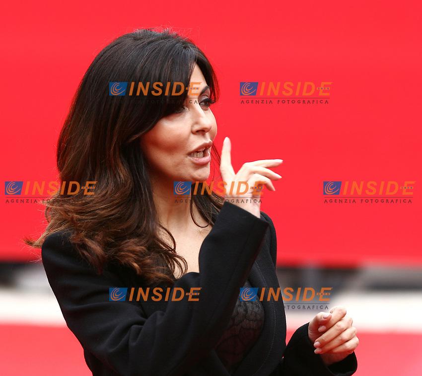 L'attrice romana Sabrina Ferilli al suo arrivo per la cerimonia di premiazione del primo Festival internazionale del Cinema di Roma<br /> Foto Andrea Staccioli INSIDE (www.insidefoto.com)