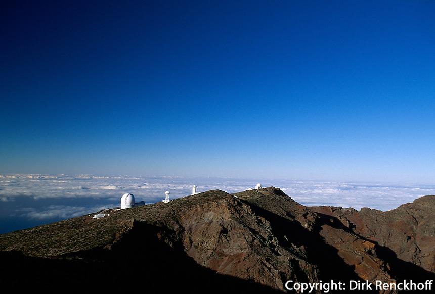 Observatorium am Roque de los Muchchos, La Palma, Kanarische Inseln, Spanien