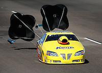 Oct. 15, 2011; Chandler, AZ, USA; NHRA pro stock driver Rodger Brogdon during qualifying at the Arizona Nationals at Firebird International Raceway. Mandatory Credit: Mark J. Rebilas-