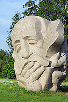 """""""Vater der Lieder"""" von J. Ranka in Turaida, Lettland, Europa"""