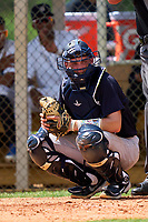 FCL Yankees catcher Ben Rice (45) during a game against the FCL Tigers West on July 31, 2021 at Tigertown in Lakeland, Florida.  (Mike Janes/Four Seam Images)