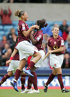 Arsenal vs Leeds United - Womens FA Cup Final at Millwall Football Club - 01/05/06 - Arsenal celebrate their second goal of the game - (Gavin Ellis 2006)