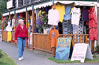 Tourist Gift and Clothing Shop in Ucluelet, on Vancouver Island, British Columbia, Canada (Model Released)