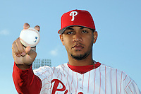 Feb 20, 2009; Clearwater, FL, USA; The Philadelphia Phillies pitcher Yorman Bazardo (76) during photoday at Bright House Field. Mandatory Credit: Tomasso De Rosa/ Four Seam Images