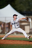 Charles Harrison (67) during the WWBA World Championship at the Roger Dean Complex on October 13, 2019 in Jupiter, Florida.  Charles Harrison attends Winder-Barrow High School in Winder, GA and is committed to Young Harris College.  (Mike Janes/Four Seam Images)