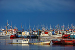 Fishing boats, Puerto Natales, southern Chile, South America