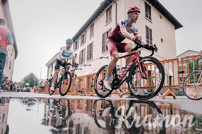 Tony Martin (DEU/Katusha-Alpecin) & Vasil Kiryienka (BLR/SKY) dropped during the local lap in Iseo<br /> <br /> stage 17: Riva del Garda - Iseo (155 km)<br /> 101th Giro d'Italia 2018