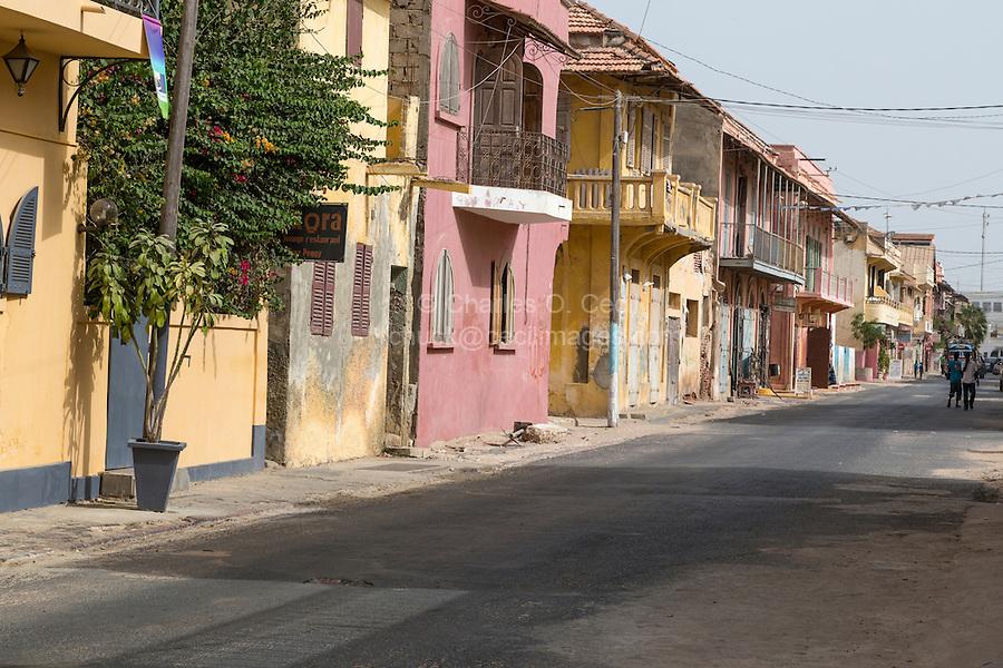 Senegal, Saint Louis.  Afternoon Street Scene.