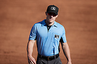 Umpire Lane Cullipher during the game between the Augusta GreenJackets and the Charleston RiverDogs at Joseph P. Riley, Jr. Park on June 27, 2021 in Charleston, South Carolina. (Brian Westerholt/Four Seam Images)
