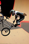 Daniel Dhers competes in the BMX Freestyle Park finals during X-Games 12 in Los Angeles, California on August 5, 2006.