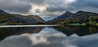 Pictured: Llyn Padarn lake in Llanberis. Saturday 02 November 2019<br /> Re: North Wales, UK.