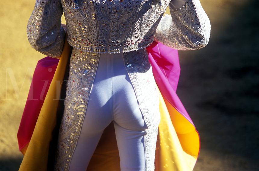 Sexy buttocks of macho bullfighter..