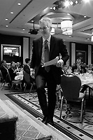 Michael Denham, president & CEO Business Development Bank of Canada, deliver a speech to the Canadian Club of Montreal, Monday, April 4, 2016.<br /> <br /> Photo : Pierre Roussel<br /> - Agence Quebec Presse