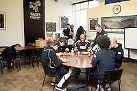 Photo: Richard Lane/Richard Lane Photography. London Wasps depart for Abu Dhabi for their LV= Cup game against Harlequins on 30st January 2011. 25/01/2011. Wasps team breakfast prior to departure for Heathrow airport.