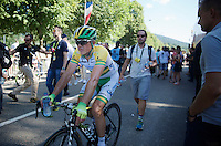 Simon Gerrans (AUS/Orica-GreenEDGE) coming in after finishing 5th<br /> <br /> 2014 Tour de France<br /> stage 11: Besançon - Oyonnax (187km)