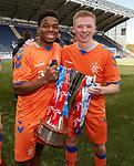 06.05.2019 Falkirk v Rangers reserves: Dapo Mebude and Stephen Kelly