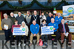 Seated L-R Fiona Kirby, Cis O'Connor, Joe Hennebery,Mary Shanahan, Willie Cleary and Frank Greaney, back L-R Mike Moriarty, Tony Casey, Pa Laide, Mark Leane, Mayor of Tralee Jim Finucane, Norma Foley, Sam Locke, Jerry Daly and Michael FOX O'Connor, pictured last Monday Dec 2 in front of the Brogue, Tralee for the official launch of the Bill Kirby Memorial walk in aid of Kerry Hospice which takes place  on St Stephans day from the Brogue at 11.30am.
