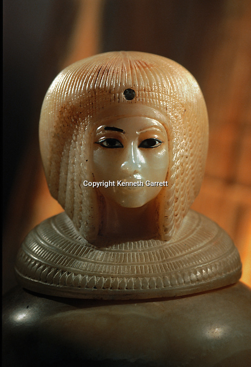 Queen Kiya; Canopic Jar, Tutankhamun and the Golden Age of the Pharaohs; Page 43