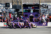 Monster Energy NASCAR Cup Series<br /> AAA Texas 500<br /> Texas Motor Speedway<br /> Fort Worth, TX USA<br /> Sunday 5 November 2017<br /> Denny Hamlin, Joe Gibbs Racing, FedEx Office Toyota Camry pit stop<br /> World Copyright: Matthew T. Thacker<br /> LAT Images