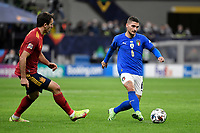 Marco Verratti of Italy and Mikel Oyarzabal of Spain during the Uefa Nations League semi-final football match between Italy and Spain at San Siro stadium in Milano (Italy), October 6th, 2021. Photo Andrea Staccioli / Insidefoto