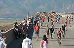 "Thousands of people came out  to run, bike or walk during the I-580 ""Rush to Washoe"" event before the new 8.5 mile freeway between Reno and Carson City opens to traffic. The event, held Saturday, July 28, 2012, gave residents a chance to enjoy the views on what is being called the most scenic highway in Nevada. .Photo by Cathleen Allison"