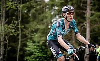 Pierre Rolland (FRA/B&B) up the Col de Joux Plane (HC/1691m/11.6 km@8.5 %)<br /> <br /> 73rd Critérium du Dauphiné 2021 (2.UWT)<br /> Stage 8 (Final) from La Léchère-Les-Bains to Les Gets (147km)<br /> <br /> ©kramon