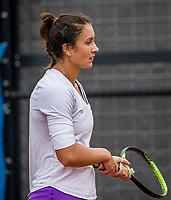Amstelveen, Netherlands, 5  Juli, 2021, National Tennis Center, NTC, Amstelveen Womans Open, Michaela Bayerlova (CZE)   Ioana Loredana Rosca (ROU)<br /> <br /> <br /> Photo: Henk Koster/tennisimages.com