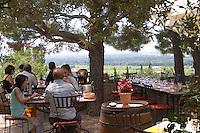 restaurant terrace restaurant verger des papes chateauneuf du pape rhone france