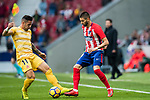 Yannick Ferreira Carrasco (R) of Atletico de Madrid competes for the ball with Francisco Aday Benitez of Girona FC during the La Liga 2017-18 match between Atletico de Madrid and Girona FC at Wanda Metropolitano on 20 January 2018 in Madrid, Spain. Photo by Diego Gonzalez / Power Sport Images