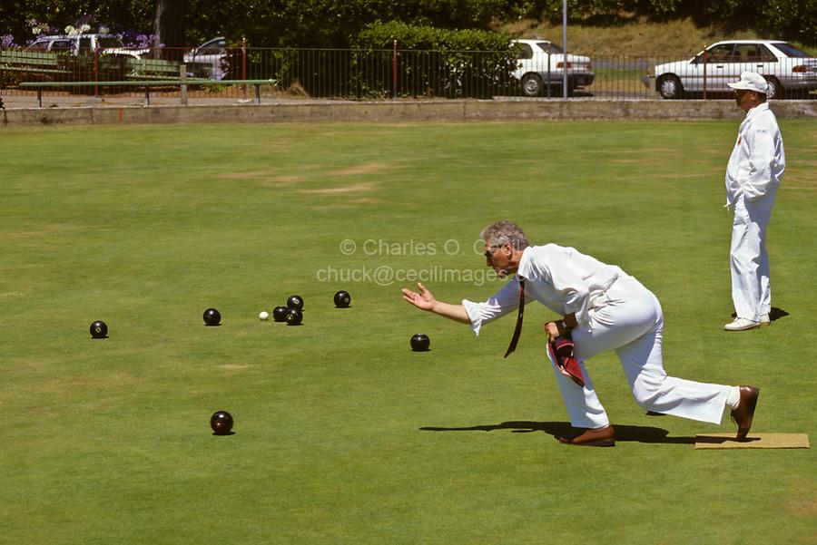 San Francisco, California.  Lawn Bowling, Golden Gate Park