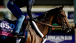 October 30, 2019: Breeders' Cup Juvenile Fillies Turf entrant Abscond, trained by Eddie Kenneally, exercises in preparation for the Breeders' Cup World Championships at Santa Anita Park in Arcadia, California on October 30, 2019. Carolyn Simancik/Eclipse Sportswire/Breeders' Cup/CSM