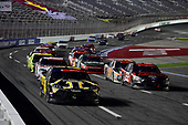 CONCORD, NORTH CAROLINA - MAY 25: Kyle Busch, driver of the #54 App State Class of 2020 Toyota, leads Austin Cindric, driver of the #22 Snap-on Tools Ford, during the NASCAR Xfinity Series Alsco 300 at Charlotte Motor Speedway on May 25, 2020 in Concord, North Carolina. (Photo by Jared C. Tilton/Getty Images)