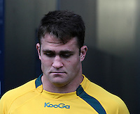 Wallabie's captain James Horwill at the captains run prior to the Rugby Championship, Bledisloe Cup test match between New Zealand and Australia, Forsyth Barr Stadium, Dunedin, New Zealand, Friday, October 18, 2013. Photo: Dianne Manson / photosport.co.nz