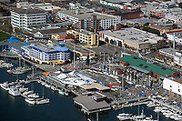 aerial photograph Jack London Square and Port of Oakland headquarters building, Oakland, California