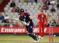 9th July 2021; Emirates Old Trafford, Manchester, Lancashire, England; T20 Vitality Blast Cricket, Lancashire Lightning versus Northamptonshire Steelbacks; Rob Keogh hit the top score for Northamptonshire Steelbacks, hitting 56 out of their total of 142-8