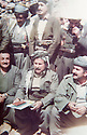 Iraq 1984 <br /> On march 21st In Sardach at the time of negotations with the Iraqi authorities, Jalal Talabani, left , Kemal Khoshnaw and right Mullazem Omar Abdallah  <br /> Irak 1984 <br /> Le 21 mars a Sardach, negotiations avec les autorites irakiennes, Jalal Talabani , a gauche, Kemal Khoshnaw et a droite, Mullazem Omar Abdallah