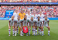 PARIS,  - JUNE 28: USWNT Starting XI during a game between France and USWNT at Parc des Princes on June 28, 2019 in Paris, France.