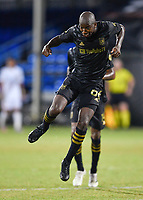 LAKE BUENA VISTA, FL - JULY 18: Bradley Wright-Phillips #66 of LAFC celebrates his goal during a game between Los Angeles Galaxy and Los Angeles FC at ESPN Wide World of Sports on July 18, 2020 in Lake Buena Vista, Florida.
