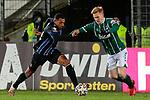 13.01.2021, xtgx, Fussball 3. Liga, VfB Luebeck - SV Waldhof Mannheim emspor, v.l. Anton Donkor (Mannheim, 19), Pascal Steinwender (Luebeck, 22) <br /> <br /> (DFL/DFB REGULATIONS PROHIBIT ANY USE OF PHOTOGRAPHS as IMAGE SEQUENCES and/or QUASI-VIDEO)<br /> <br /> Foto © PIX-Sportfotos *** Foto ist honorarpflichtig! *** Auf Anfrage in hoeherer Qualitaet/Aufloesung. Belegexemplar erbeten. Veroeffentlichung ausschliesslich fuer journalistisch-publizistische Zwecke. For editorial use only.