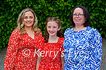Clogher NS - Siobhan and Fiona McCarthy, Trish Donnelly (Ballymac) at the confirmation last Thursday in St Brendan's Church, Clogher.