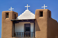 San Geronimo Church in Pueblo de Taos. Taos, New Mexico.