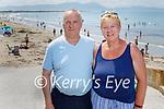 The Riordans enjoying Ballyheigue beach on Sunday, l to r: Brendan and Veronica Riordan from Ballyheigue.
